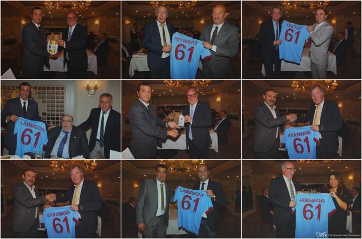 Lokeren Kulübü yetkilileri ve UEFA temsilcine bir yemek verildi.