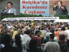 Belçika'da Trabzon Festivalinde Karadenizliler Horon'a doydu