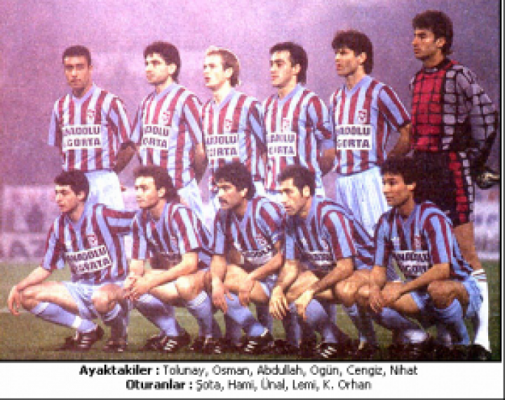 TRABZONSPOR 1994 – 95 KADROSU … Lig İkincisi , Türkiye Kupası , C.Başkanlığı Kupası