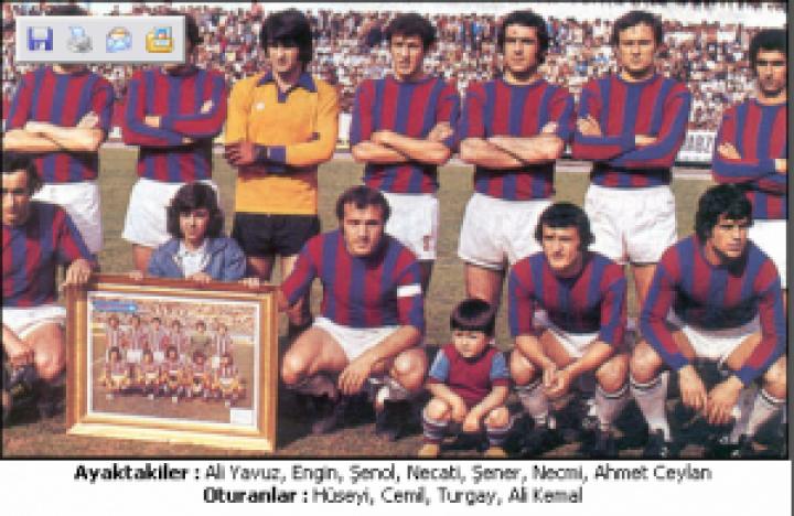 TRABZONSPOR 1976 – 77 KADROSU … Şampiyon , C.Başkanlığı Kupası , Türkiye Kupası
