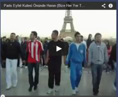 Paris Eyfel Kulesi Önünde Horon (Bize Her Yer TRABZON)