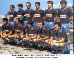 TRABZONSPOR 1983 – 84 KADROSU … Şampiyon , Türkiye Kupası