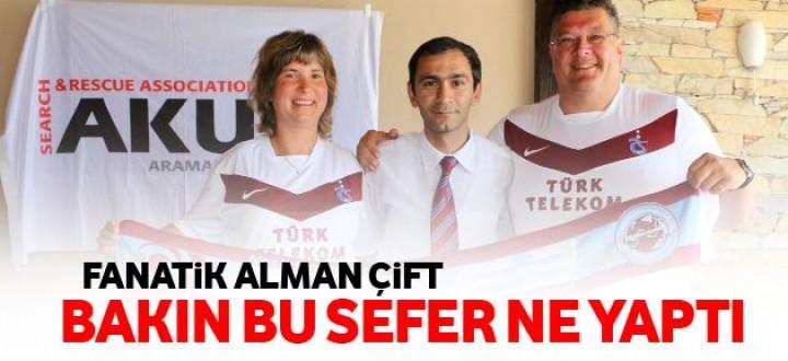 Trabzonspor taraftarı Alman çiftin duyarlılığı